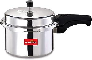 Rasoiya Aluminium Pressure Cooker with ISI Mark (1.5 L, Silver)