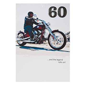 Hallmark Harley Davidson 60th Birthday Card For Him The Legend