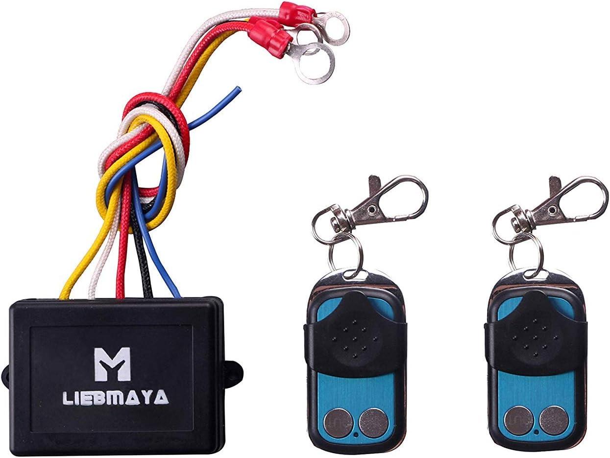 Liebmaya Wireless Elektrische Seilwinde Funkfernbedienung Motorwinde Toröffner Controller Fernsteuerung Für Winde Kipper Lkw Jeep Atv Boot Auto