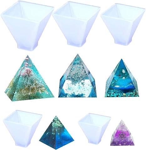 Crystal Epoxy Pyramid Silicone Mould DIY  Decorative Mold Craft Jewelry Making