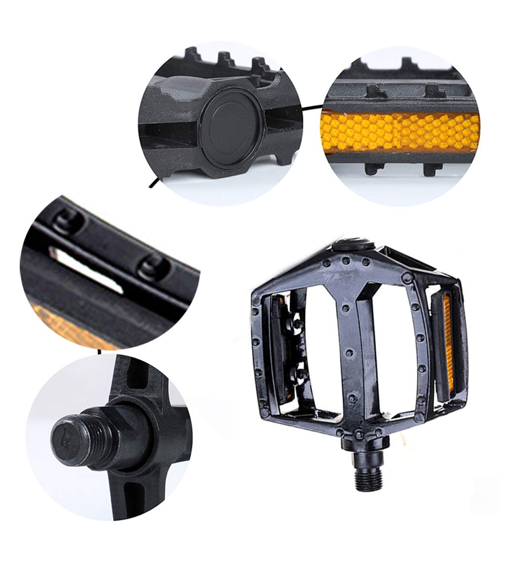 Road Bike 2 Pcs YIJIAOYUN Universal 9//16 Inch Aluminium Alloy Bicycle Pedals for BMX//MTB Bike