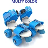 Hebrik™ Roller Skates for Kids Age Group 4-12 Years Adjustable Inline Skating Shoes with School Sport - Multi Color
