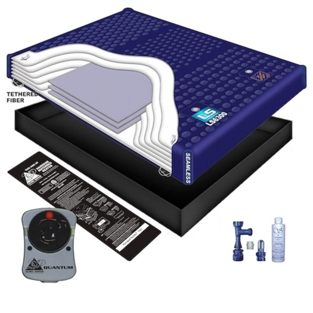 100% WAVELESS WATERBED Mattress/Liner/Heater/Fill Drain/Conditioner KIT (Queen 60x84 1L7G2) by Innomax
