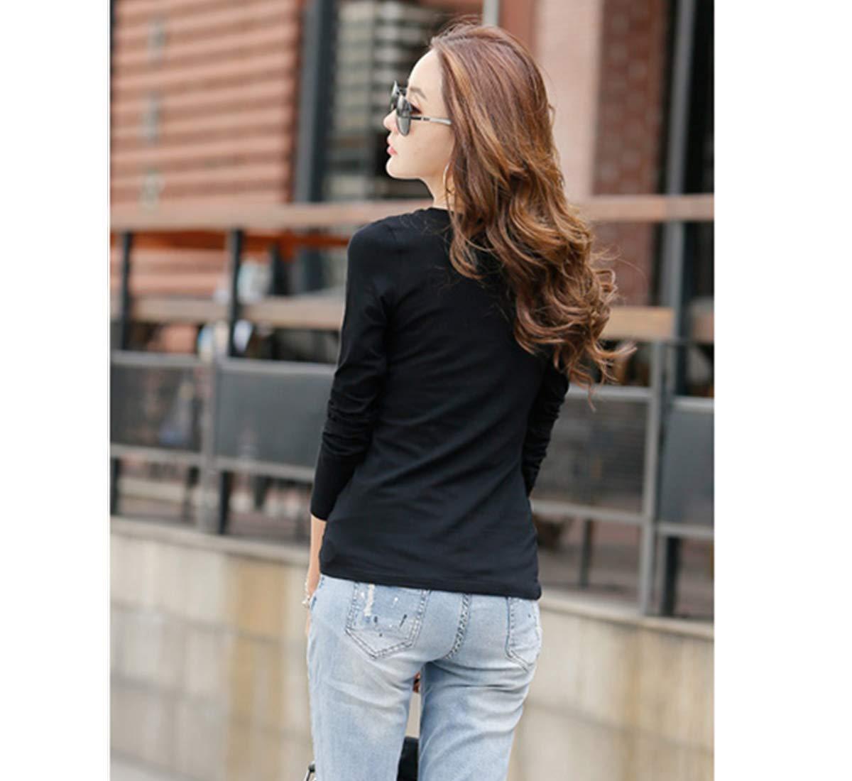 レディース トップス インナー Tシャツ(GT-2PC black/white S)