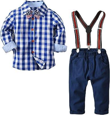Amazon.com: Conjunto de ropa para niños con camisas a ...