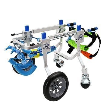 Sillas de ruedas para perros, carros de entrenamiento para rehabilitación de perros, tamaño adecuado