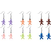 6 pieces of mini plastic baby earring accessories highlight personalized earring crafts