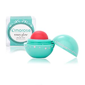 Omorose Cosmetics Colorful Pigmented Natural Sheer Opaque Blendable Flush Glow Glowy Dewy Highlight Cruelty Free Beauty Makeup Glow Cream Gel Hydrating Lip Cheek Tint Blush, Radiant Cherry Red