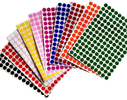 Royal Green Color Coding Labels 3/8 (0.375) inch 10 mm 3080, 10 Combo