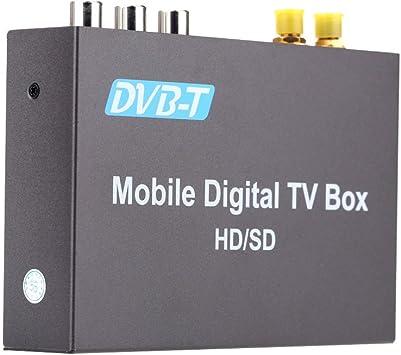KKmoon DVB-T TV Coche,DVB-T Box Multi Canales Digital Sintonizador de TV Analógica 240 km/h Receptor de Señal Fuerte con 2 Antenas: Amazon.es: Electrónica