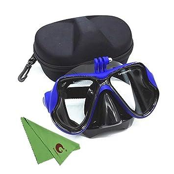 xixihaha silicona buceo gafas con bolsa de almacenamiento para máscara de buceo Scuba snorkel gafas de