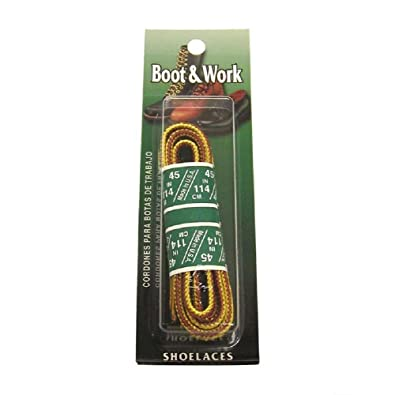 Amazon.com: Boot & Work Shoe Laces 3 Pairs Brown,gold-tan and Black ...