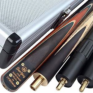 Billardqueue JY2, 145cm, handgefertigt, 3/4-geteilt, mit Koffer, 2...