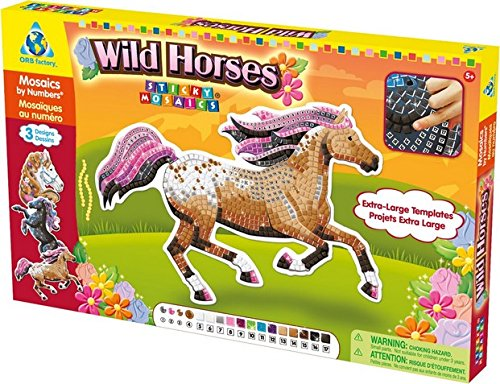 The Orb Factory Limited Sticky Mosaics Wild (Horse Mosaic)