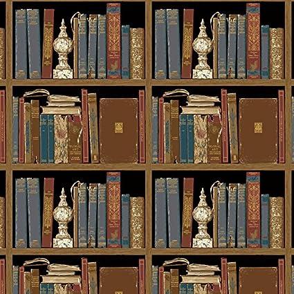 Designer Wallpaper Vinyl Bookshelf Liabrary Design For Home Wall Decoration Paper 208quotx393