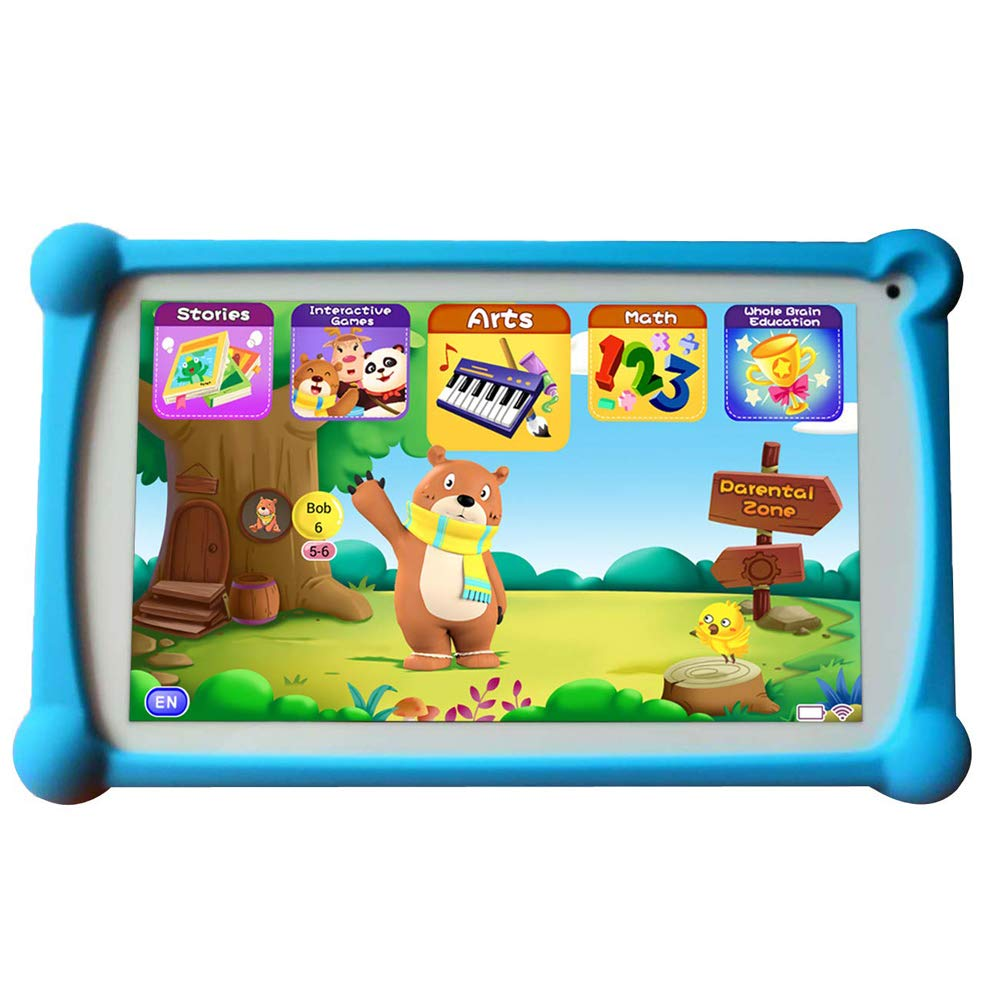 Kids Tablet, B.B.PAW 7 inch 1G+8G Android Tablet with 120+ English Preloaded Learning&Training Apps for Kids-Blue by B.B.PAW