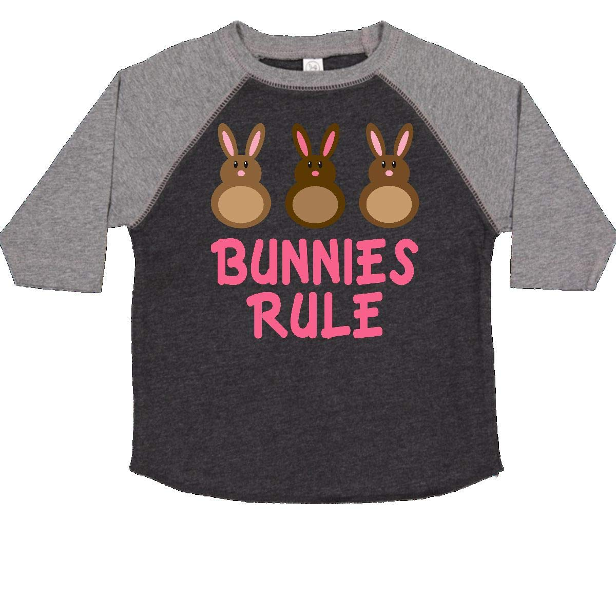inktastic Easter Rabbit Chocolate Bunnies Rule Toddler T-Shirt