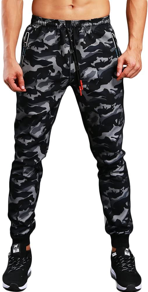 FELiCON Hombres Pantalones de chándal de Camuflaje Casuales, Ropa ...