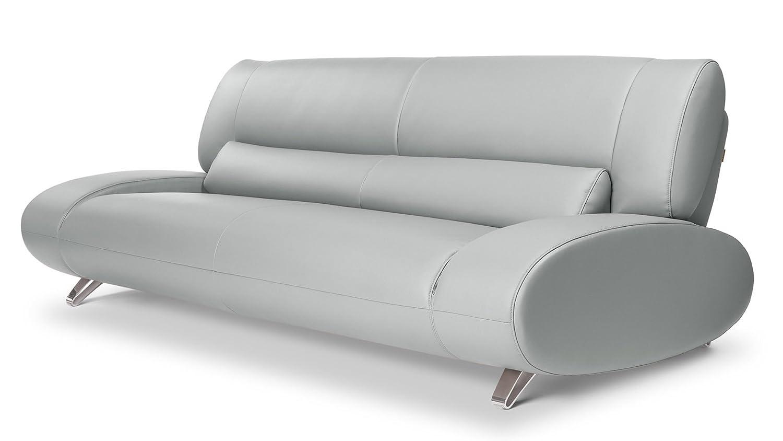 Amazon.com: Zuri Furniture Modern Aspen Light Grey Microfiber ...