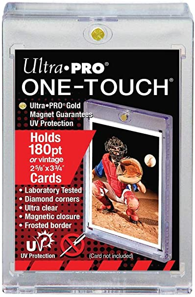 Hockey Basketball Sportscards Nascar Ultra Pro One Touch Magnetic Thick Card Holder Football Fits up to 130pt Card Baseball Gaming /& Trading Cards Collecting Supplies