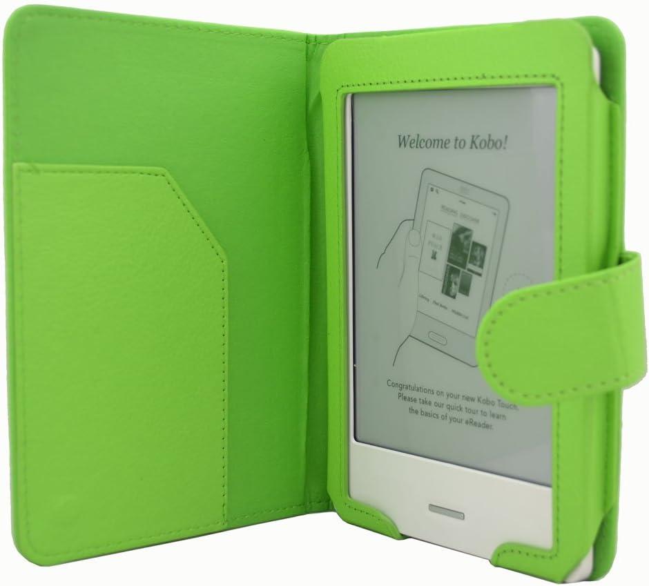 Magnético Cierre Cuero Funda de Piel para eReader eBook Kobo Touch ...