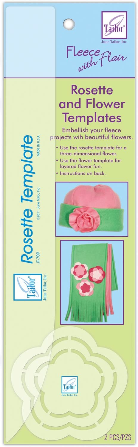 June Tailor Rosette /& Flower Template