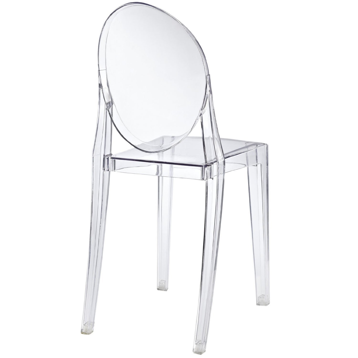 Nicer Furniture Set Of 1 Philippe Starck Louis Xvi Ghost Side Chair Without Arms Modern Victoria Dining Chair Polycarbonate Plastic In Clear Transparent