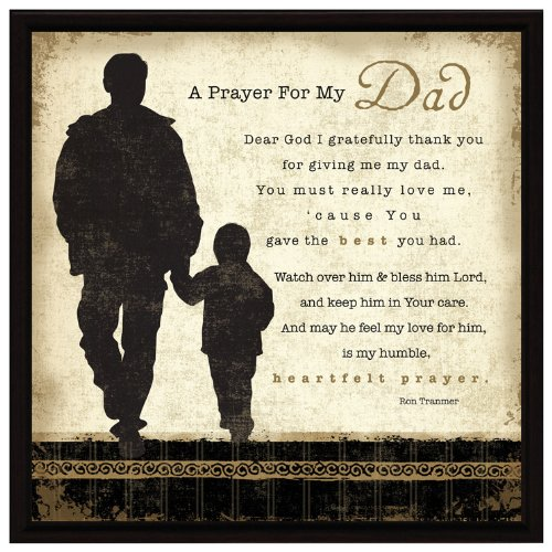 Dad Prayer Wood Framed Plaque Father Inspiring Quote - 7.5