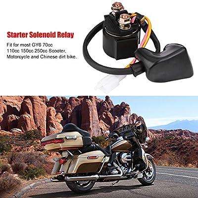 Qiilu Starter Solenoid Relay for Honda TRX400EX TRX300 ATC GY6 50cc-125cc ATV: Automotive