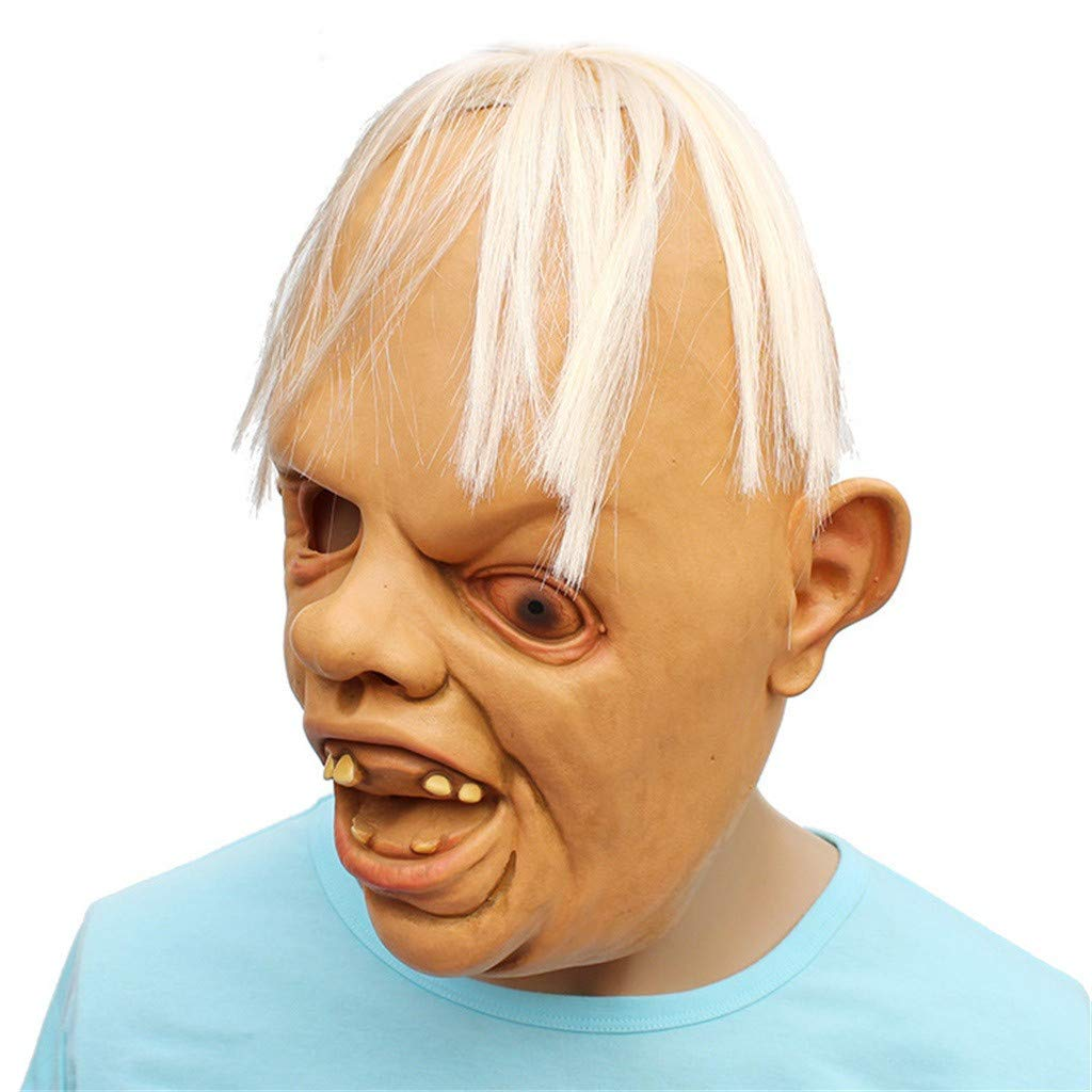 Ariestorm Novelty Latex Rubber Creepy Scary Ugly Baby Head The Goonies Sloth Mask Halloween Party Costume Decorations by Ariestorm