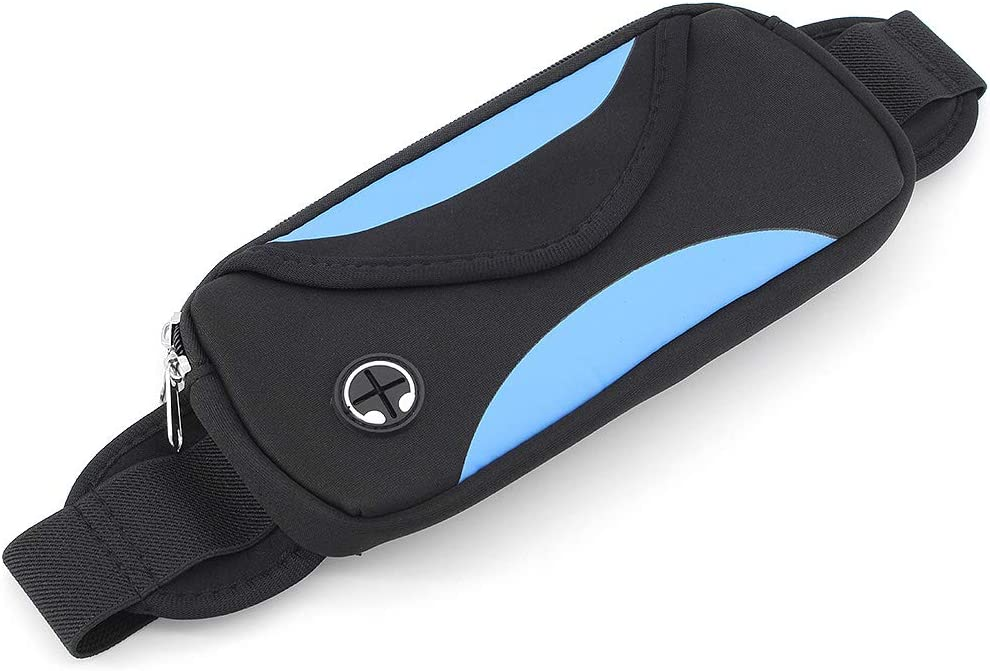 Banda el/ástica Ajustable Ri/ñonera Fitness Waist con Agujero para Auriculares Compatible La mayor/ía de los Modelos de tel/éfonos m/óviles ShawFly Running Belt Bumbag