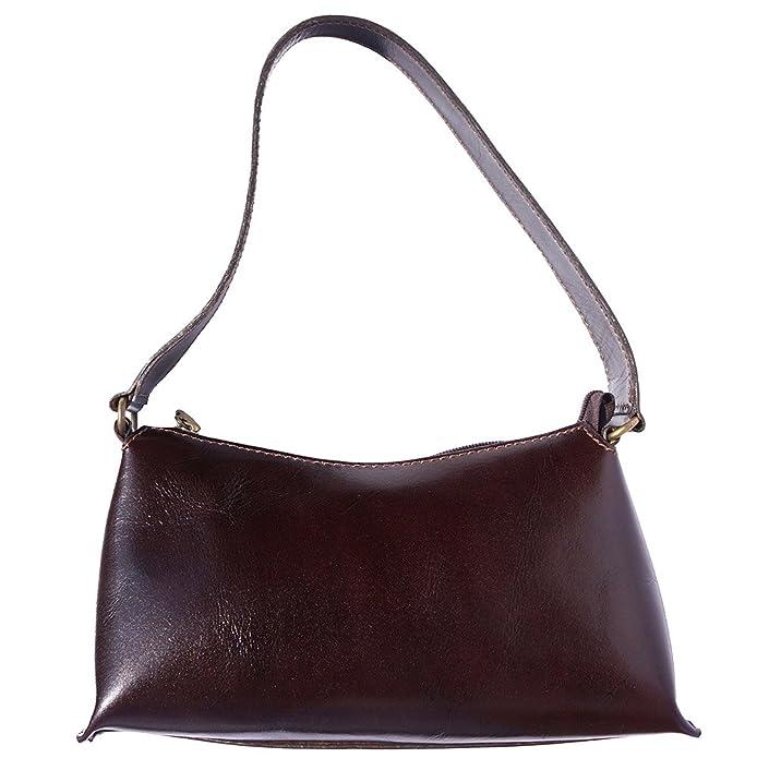 Floriana Handtasche mit Doppelgriff aus echtem Kalbsleder 6414 ...