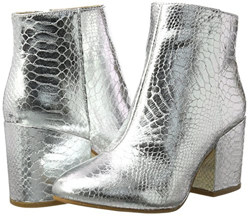 Botas Metallic para 416 PU Silver Mujer 6358 Snake Shoes Buffalo Plateado CqPwUU