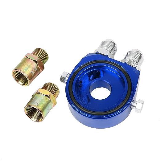 Universal Petr/óleo Temp Sensor de presi/ón filtro Sandwich Plate M20/3//4/UNF
