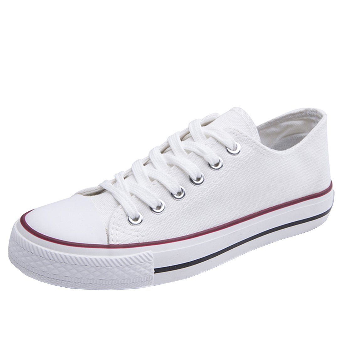 YE Outdoor Chaussure Espadrilles Toile Blanc Plates Outdoor Femme Sneakers Sport YE Shoes Woman à Lacet Plateforme Confor Blanc bea589e - piero.space