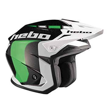HEBO Trial Zone 5 Like Casco, verde, Talla L