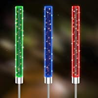 3-Pack WoSports Multi Color Changing Solar Acrylic Stake Lights