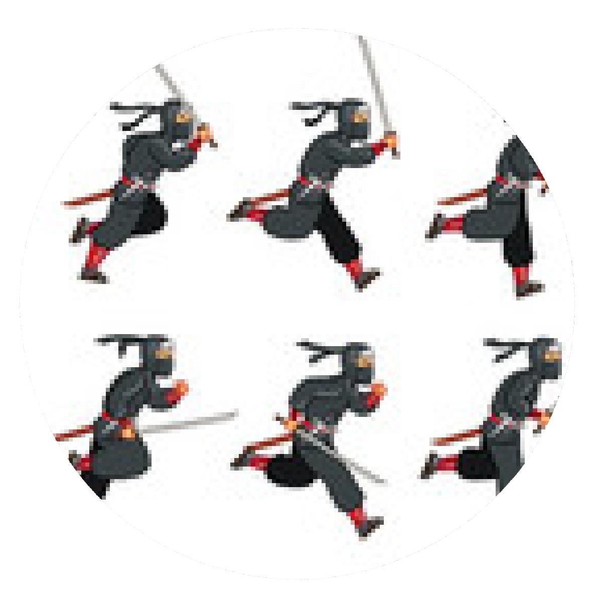 alfombrilla de ratón Ninja de juego de carrera Sprite ...