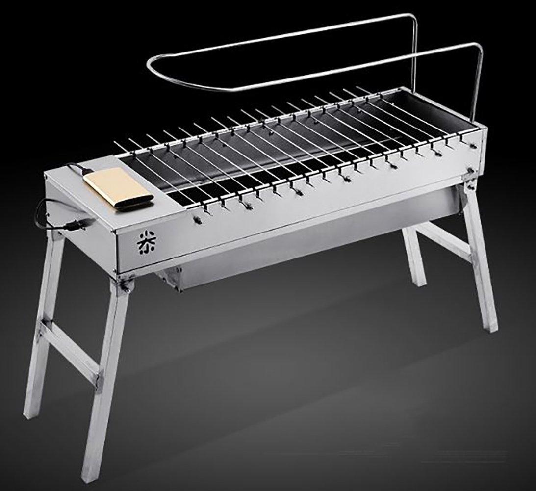 KOKR Automatischer Grill-Tragbarer Grill-Intelligenter Grill-Edelstahl Für Den Garten Im Freien Kampierend