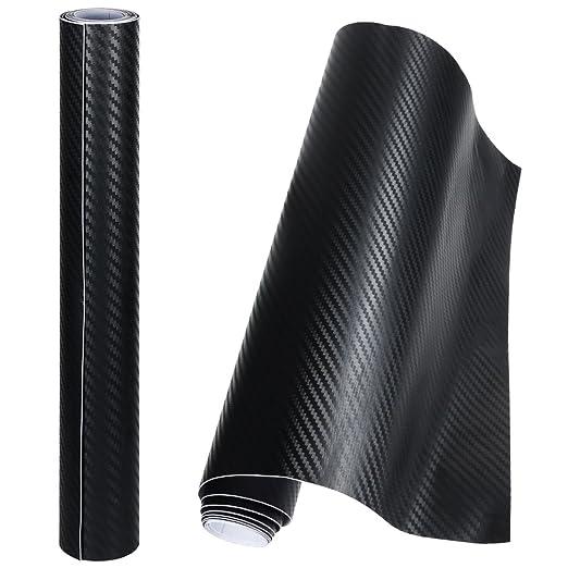 11 opinioni per Anpro 2 Rotoli Pellicola Adesiva 3D Carbonio/ Rivestimento Adesivo Adesiva Nero