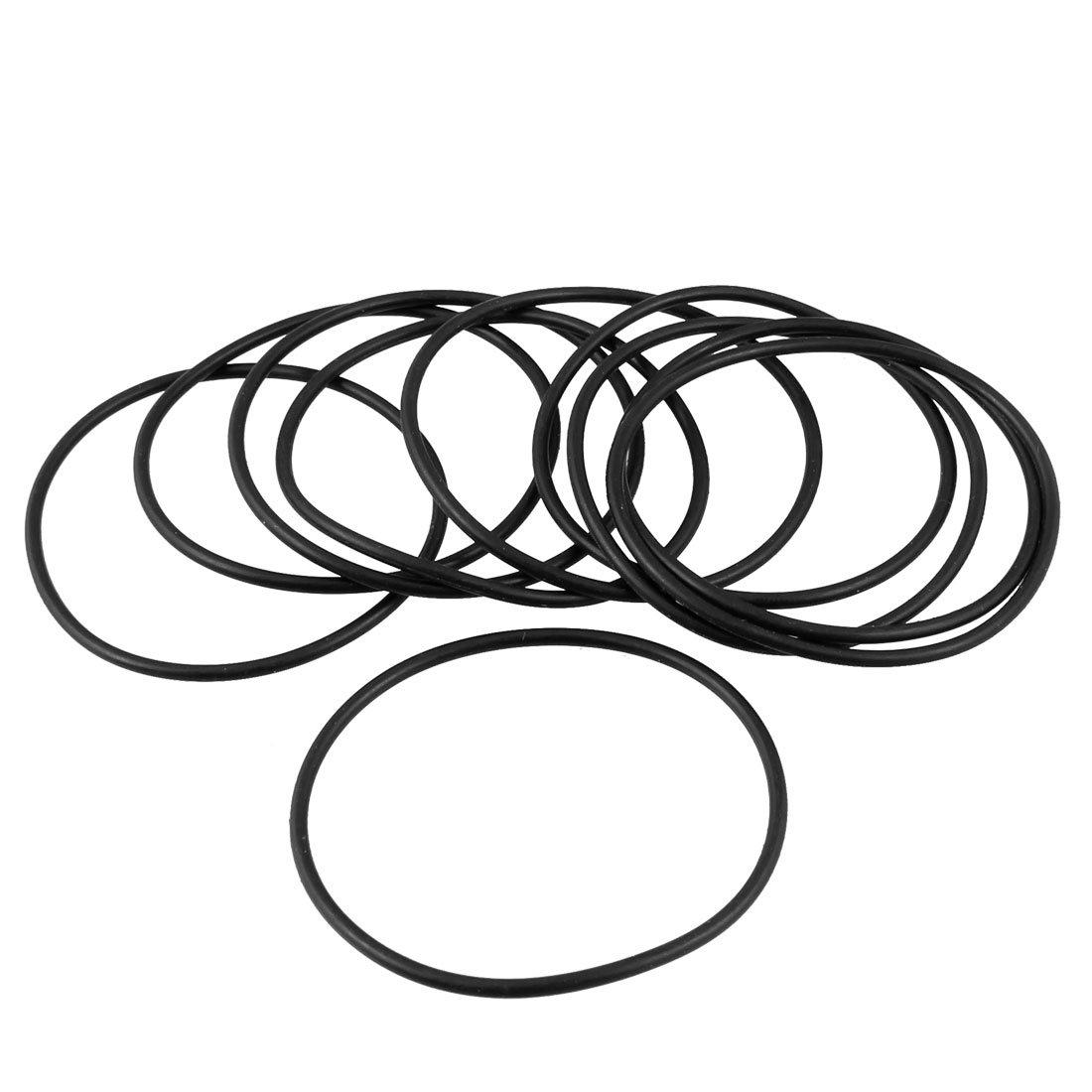 46 mm x 42 mm x 2 MM CAOUTCHOUC DE JOINT TORIQUE DE FILTRE A HUILE ET DE Joints de 10 anneaux sourcingmap a13010800ux0621