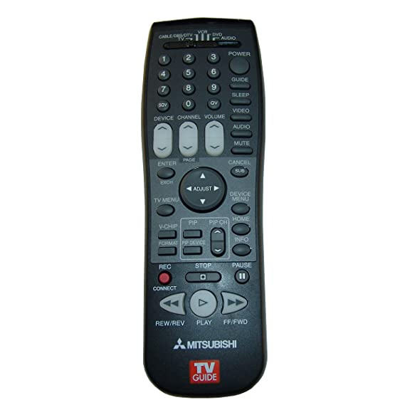 amazon com mitsubishi tv remote control electronics rh amazon com Mitsubishi VCR Remote Codes Mitsubishi VCR Remote Codes