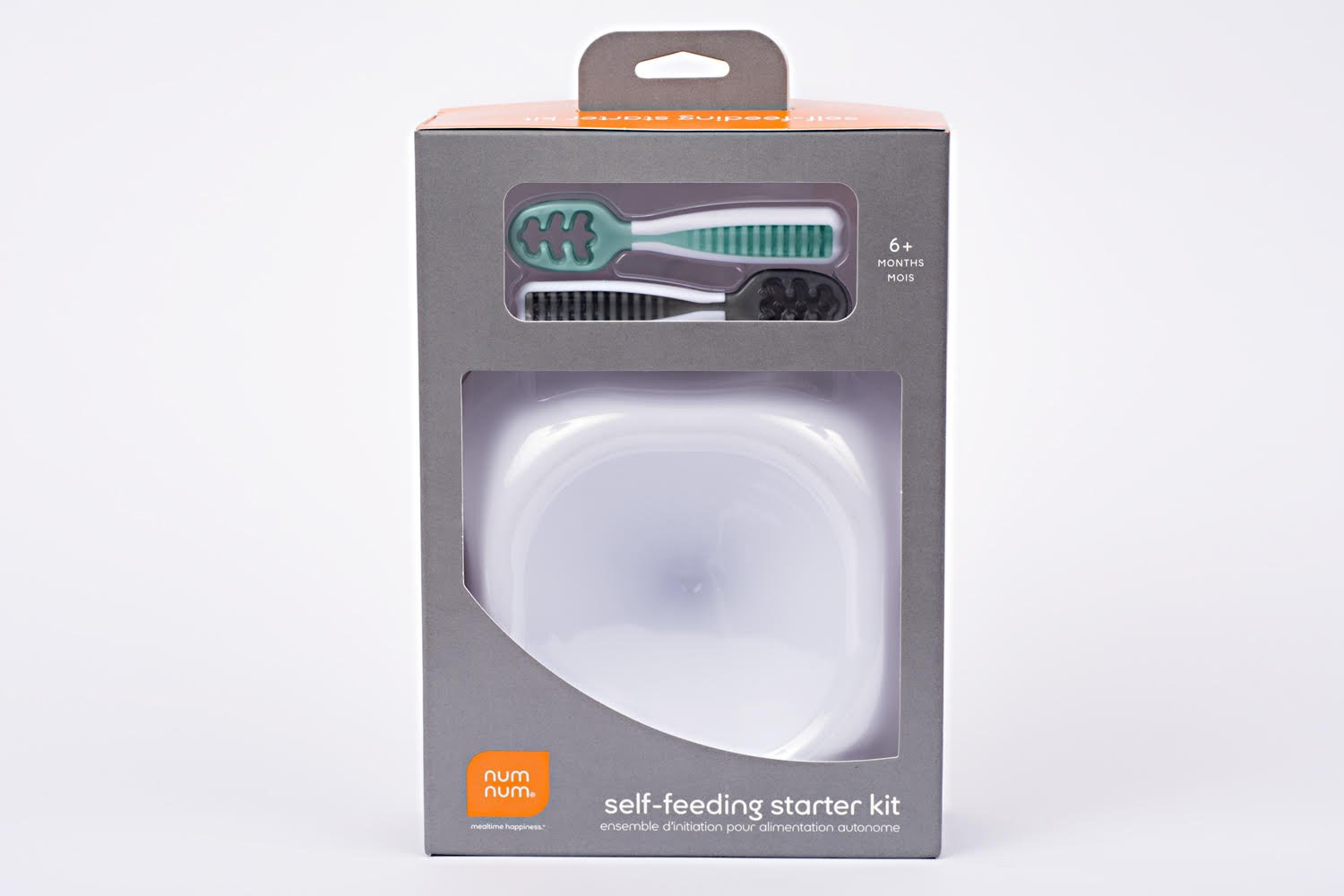 NumNum Self-Feeding Starter Kit | Includes Beginner Bowl + Dual Stage GOOtensils | Great Baby Shower Gift!