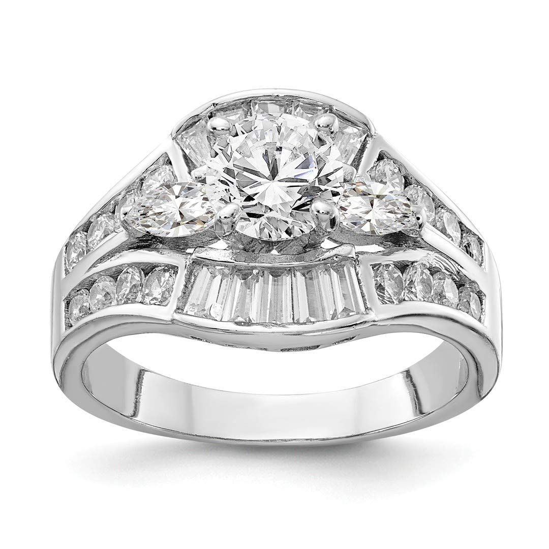 ICE CARATS 925 Sterling Silver Cubic Zirconia Cz Band Ring Size 7.00 Engagement Wedding Set Fine Jewelry Ideal Gifts For Women Gift Set From Heart