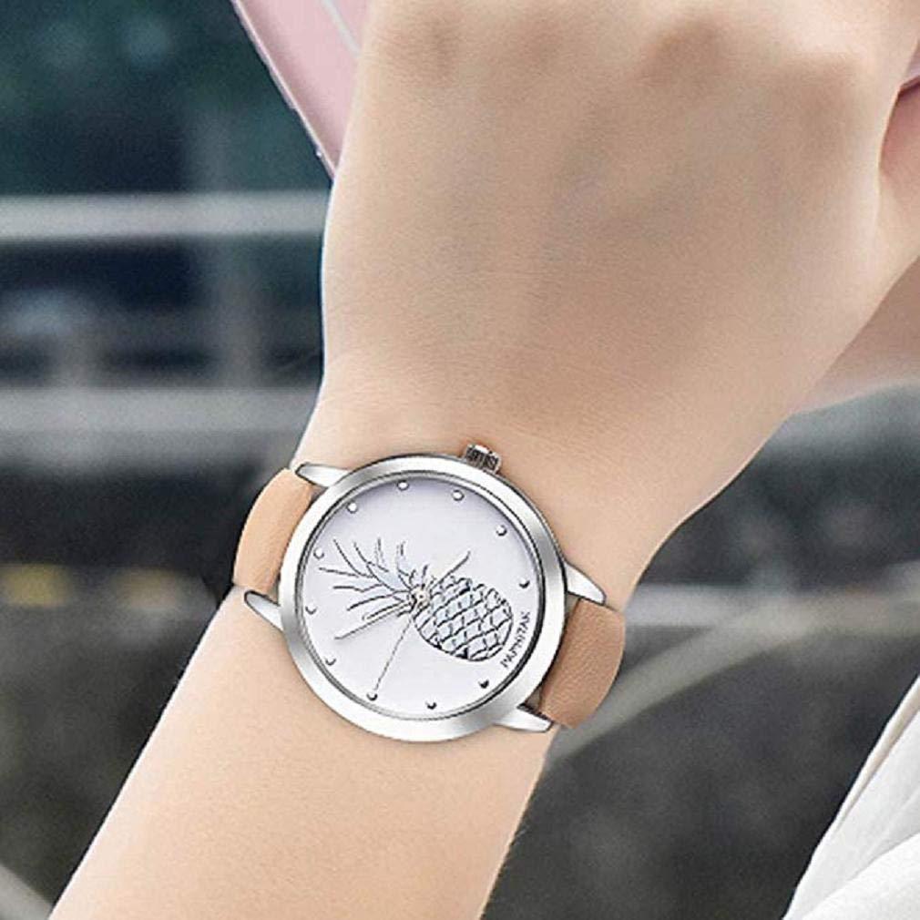 Reloj de Señoras de Moda, Scpink Reloj de Cuarzo Femenino Clásico Reloj de Cuarzo Reloj Impermeable Reloj de Acero Inoxidable Elegante Reloj de Cuero ...