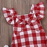 Newborn Infant Baby Girls Clothes Plaids Checks