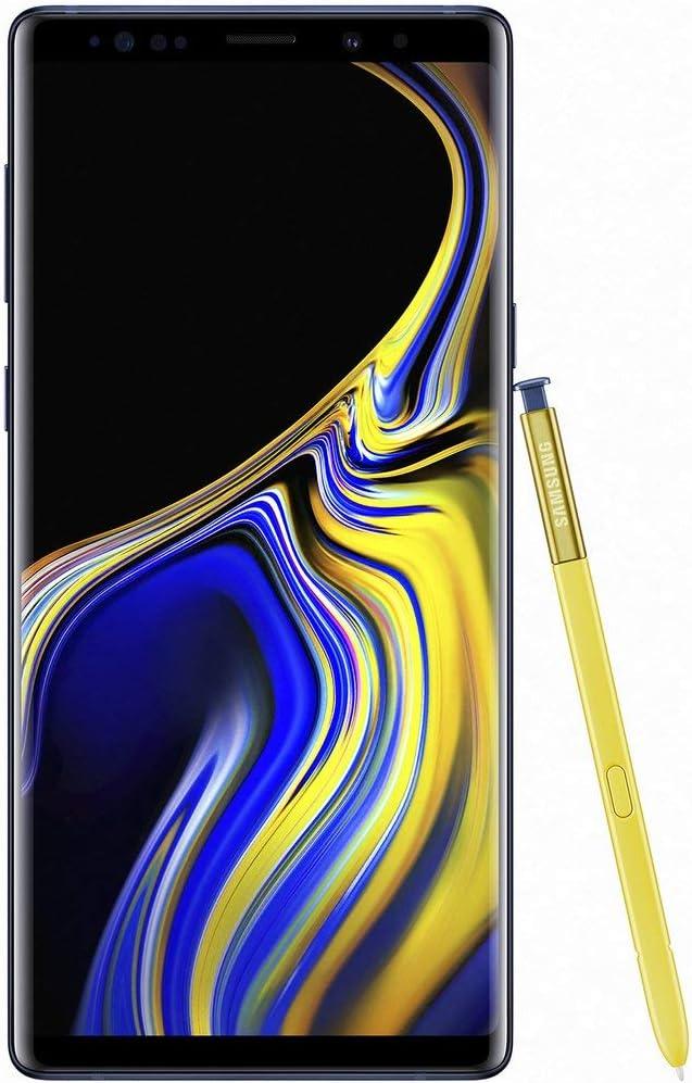 """Samsung Galaxy Note 9 SM-N9600 Dual SIM (128GB/6GB, Ocean Blue) 6.4"""" QHD+ sAMOLED Factory Unlocked GSM (No CDMA) - International Version (No Warranty)"""