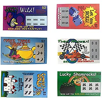 Amazon com: Fake Lottery Tickets: Toys & Games