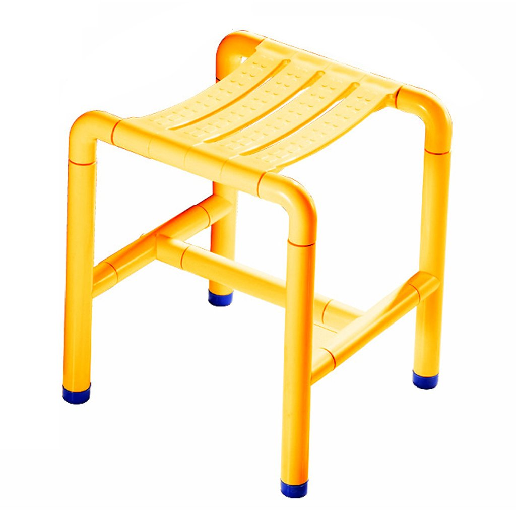 【税込】 バスルームスツール ステンレススチールシャワースツールアンチスキッド高齢者浴室スツールチェア バスルームシャワースツール (Color B07G5T45W7/障害者用バススツール滑り止め 強力な支持能力 (Color : Yellow) Yellow Yellow B07G5T45W7, レザークラフトマリボックス:d3d0b763 --- ciadaterra.com