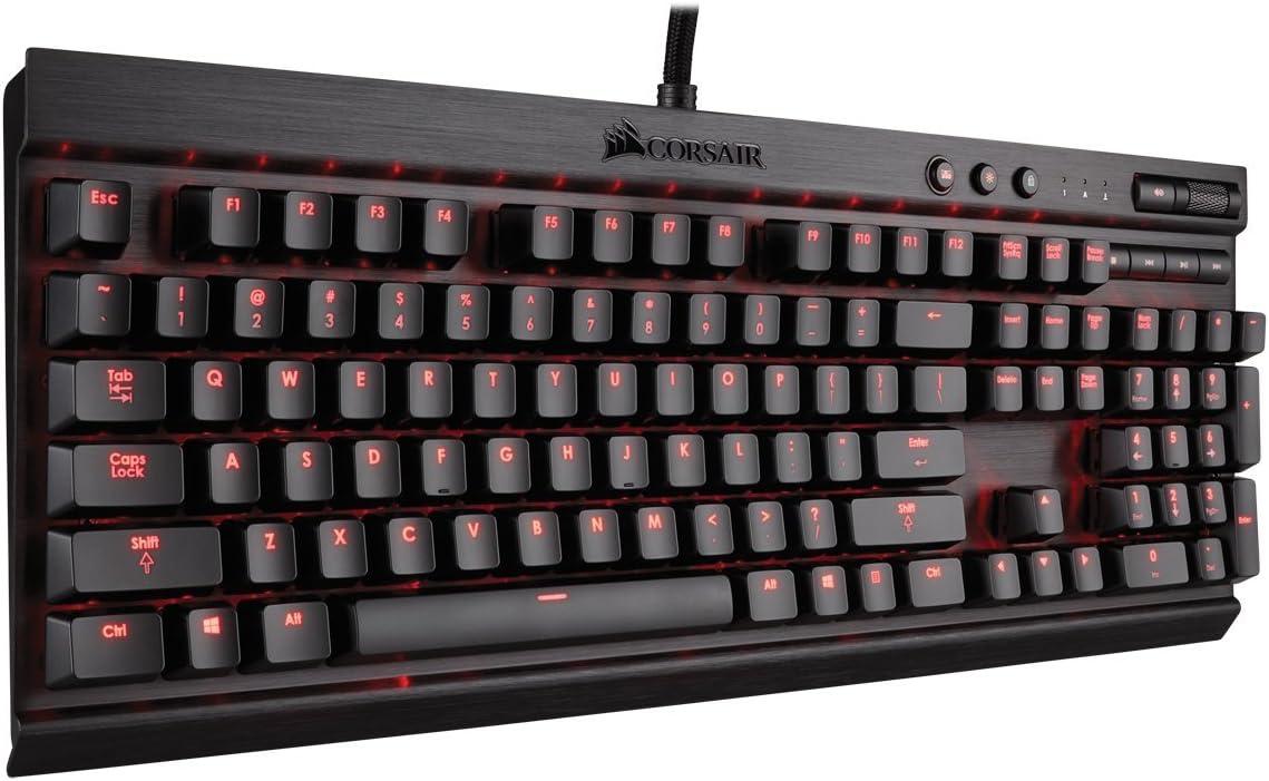Backlit Red LED Cherry MX Brown Corsair Gaming K70 Mechanical Keyboard